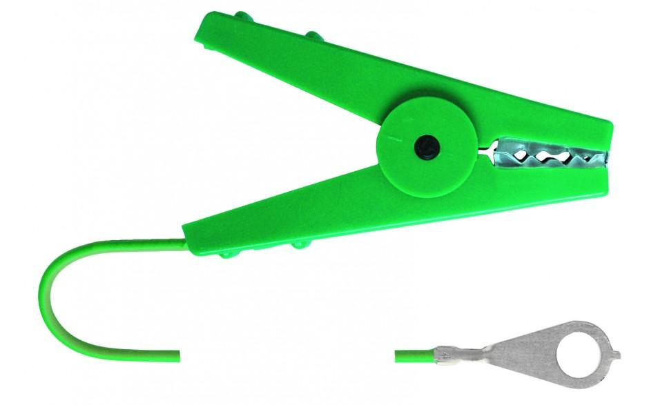 Câble connexion avec pince crocodile verte