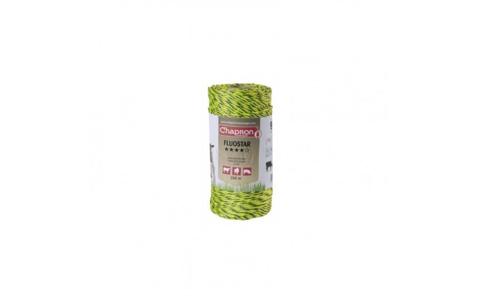 fil de cloture 3 inox fluo star 200m chapron